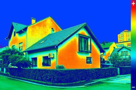 Gebäudethermographie Schneider Holzbau AG Wärmebild