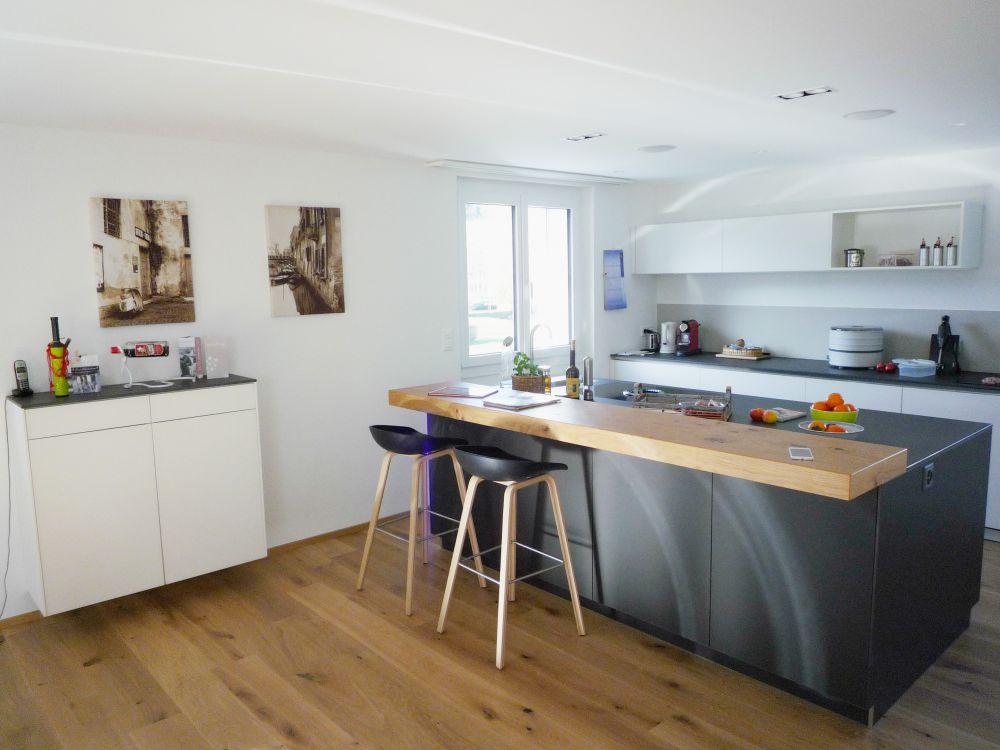 wohnzimmer und k chenumbau schneider holzbau ag. Black Bedroom Furniture Sets. Home Design Ideas
