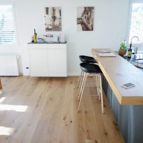 Referenzen Altbausanierung Wohnzimmer- Und Kuechenumbau Parkettboden Eiche