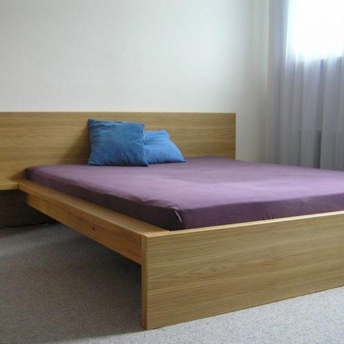Referenzen Schreinerei Bett Massgefertigt Eiche 01