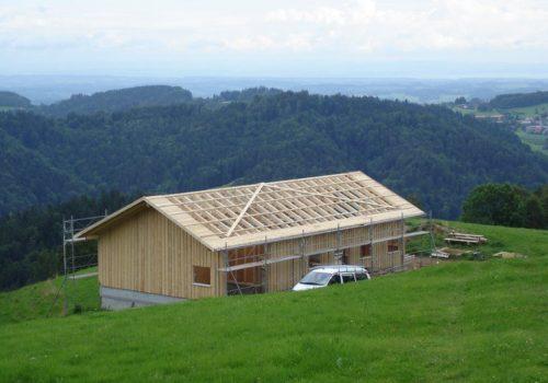 Referenzen Zimmerei Neubau Alpstall 03
