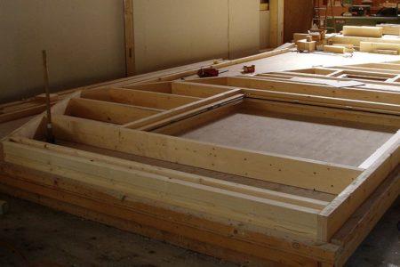 Zimmerei Elementbau Holzrahmen Einer Aussenwand