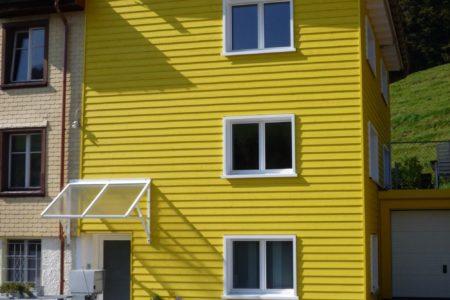Zimmerei Fassaden Stuelpschalung Fichte Saergeroh